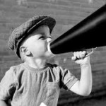 kid with a megaphone