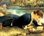 woman_reading_river